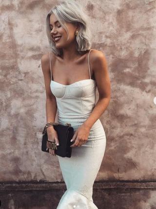 balık model beyaz elbise modelleri 2019 2020 - Kopya