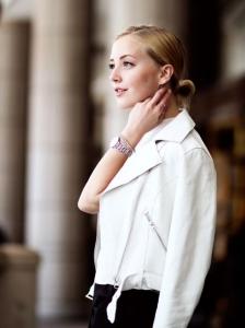 beyaz deri ceket