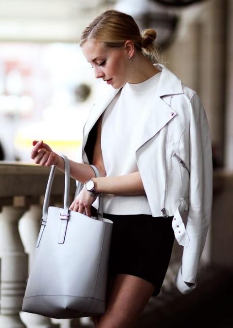 beyaz deri ceket modelleri