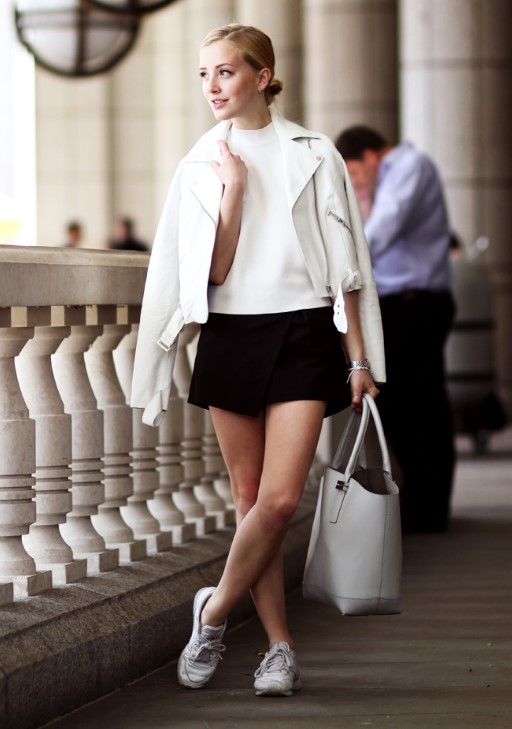beyaz deri ceketler nasıl giyilir 2020
