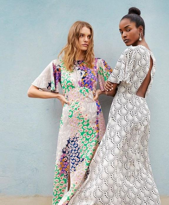 çiçek desen yazlık elbise modelleri 2020