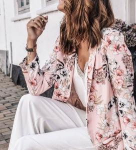 çiçek desenli blazer ceketler 2019 20