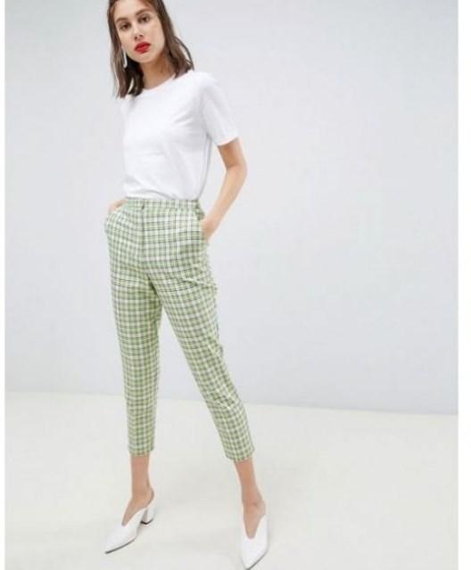 ekose desenli kapri pantolon modeli 2020