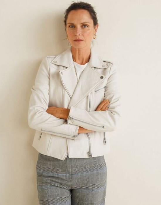 mango beyaz deri ceket modeli 2019 2020