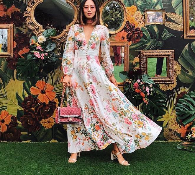 mango çiçek desenli elbiseler 2020