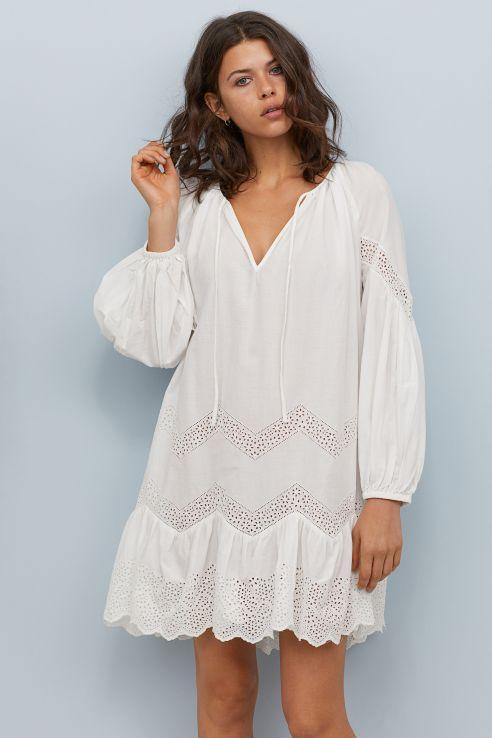 rustik tarz hm beyaz elbise 2019 20