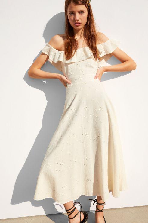 rustik yazlık elbise modeli