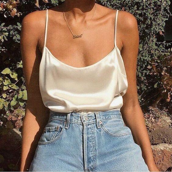 saten askılı bluz modeli 2020