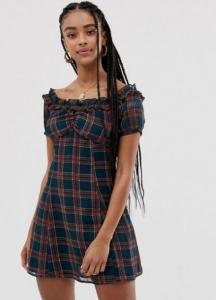 yazlık kareli elbiseler 2020