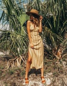 zayıf gösteren yazlık elbise modeli 2019 20