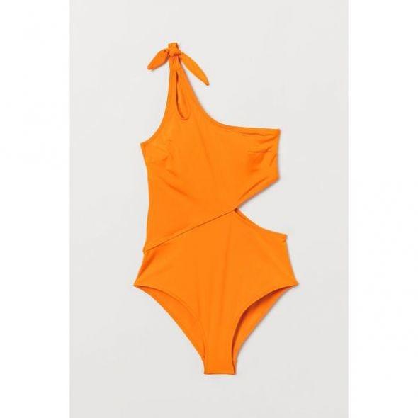 hm tek omuz turuncu mayo modeli
