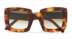 leopar desenli kare büyük boy güneş gözlüğü