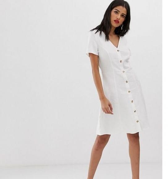 önden düğmeli yaz elbisesi