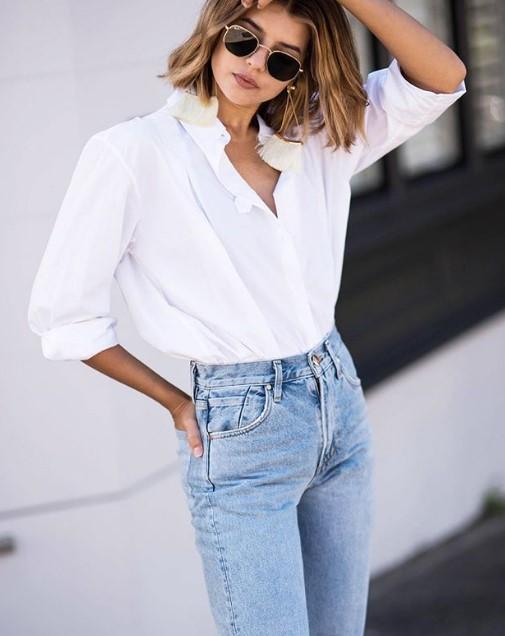 bayan beyaz gömlek modelleri 2020