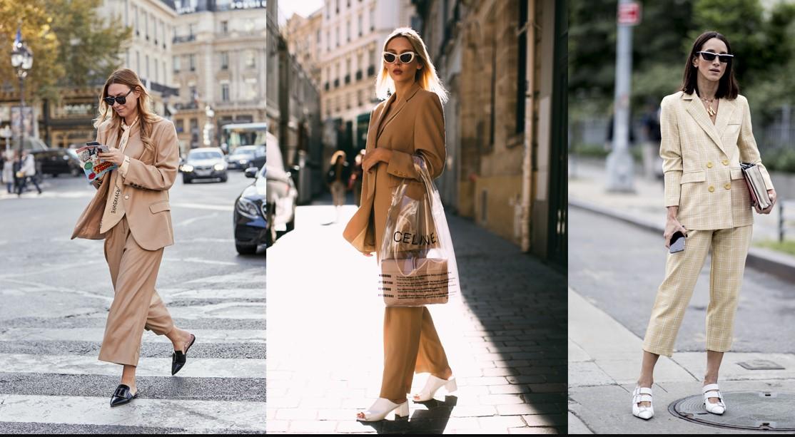 bej renk ile sokak modası kombinleri 2020