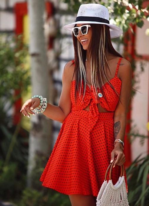 Yazın moda kırmızı elbise modelleri 2019 2020