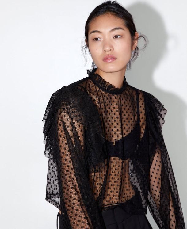 Zara 2019 sonbahar bluz modelleri