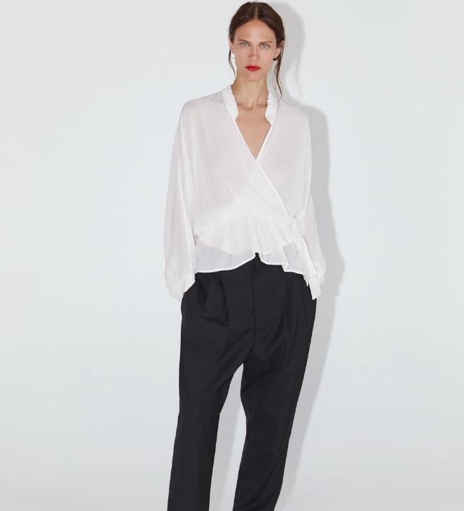 zara fırfırlı bluz modelleri 2020