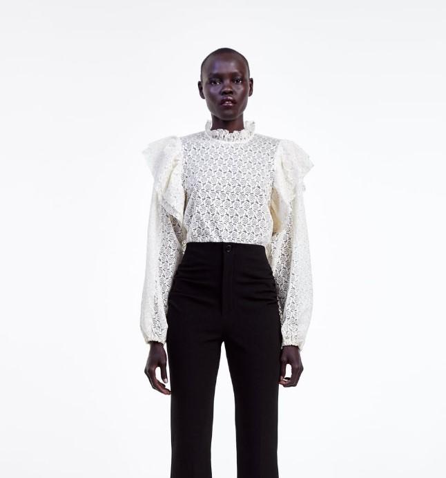 zara fırfırlı bluzlar 2020