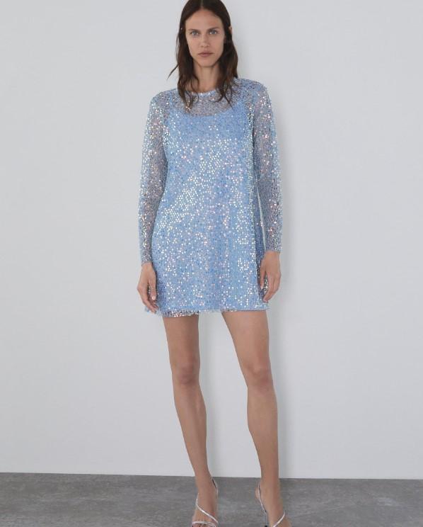 Zara gece elbisesi modeli 2020