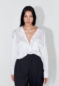 zara saten beyaz gömlek modeli 2020