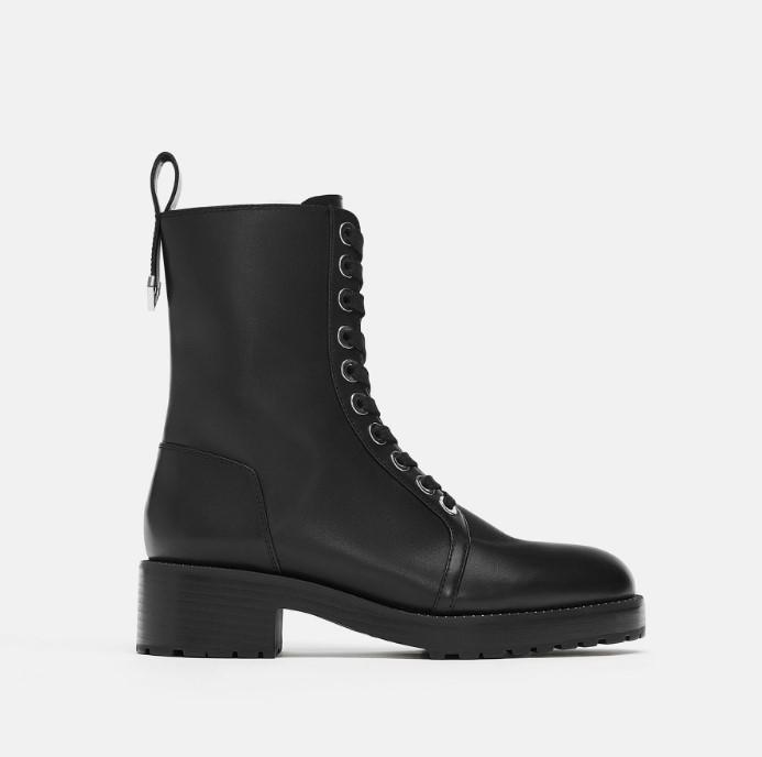 Zara siyah postal bot modeli 2020