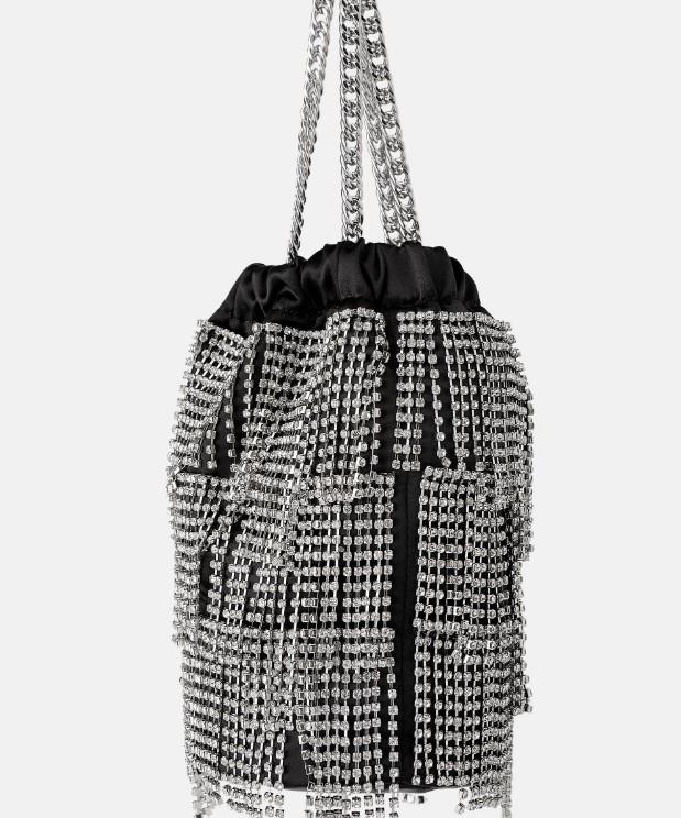 Zara taşlı çanta modeli 2020