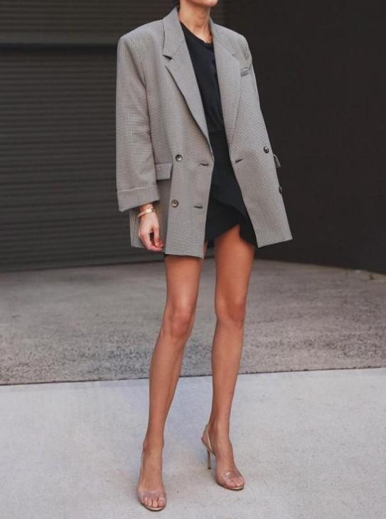blazer ceket ile elbise kombinleri 2
