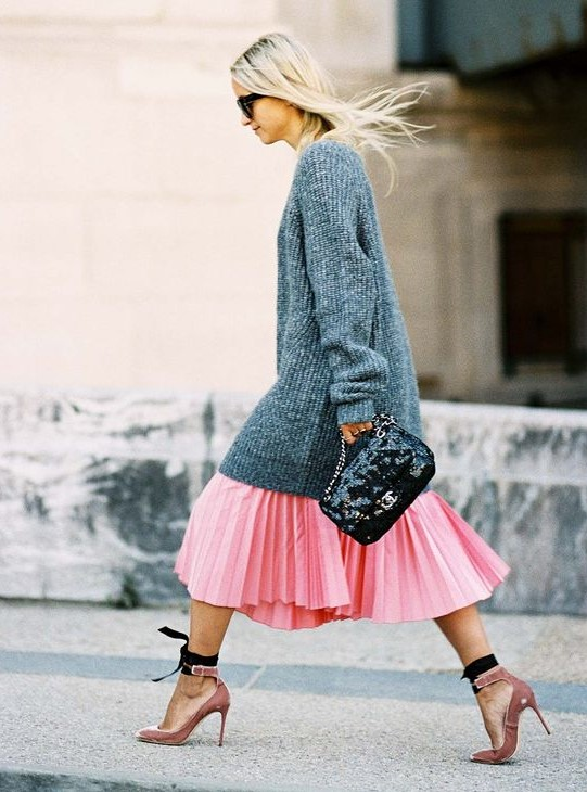 pastel pembe kıyafet kombin