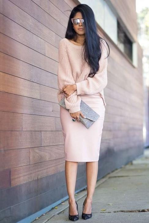 pastel pembe kıyafet kombini