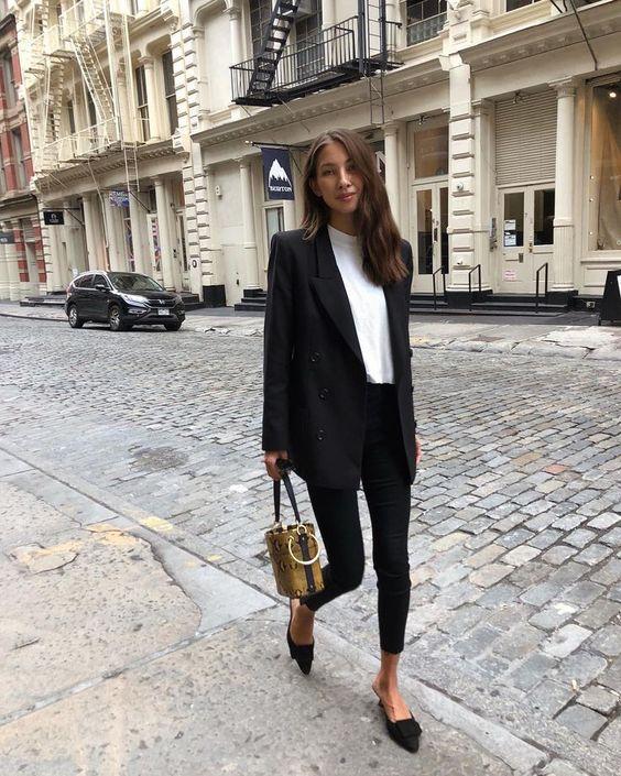 siyah blazer ceket kombini 3