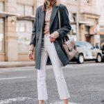 Beyaz jean sokak stilleri sonbahar kış 2019