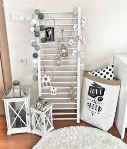Merdiven ile yaratıcı dekorasyonlar