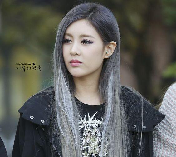 küllü gri ombre saç modelleri