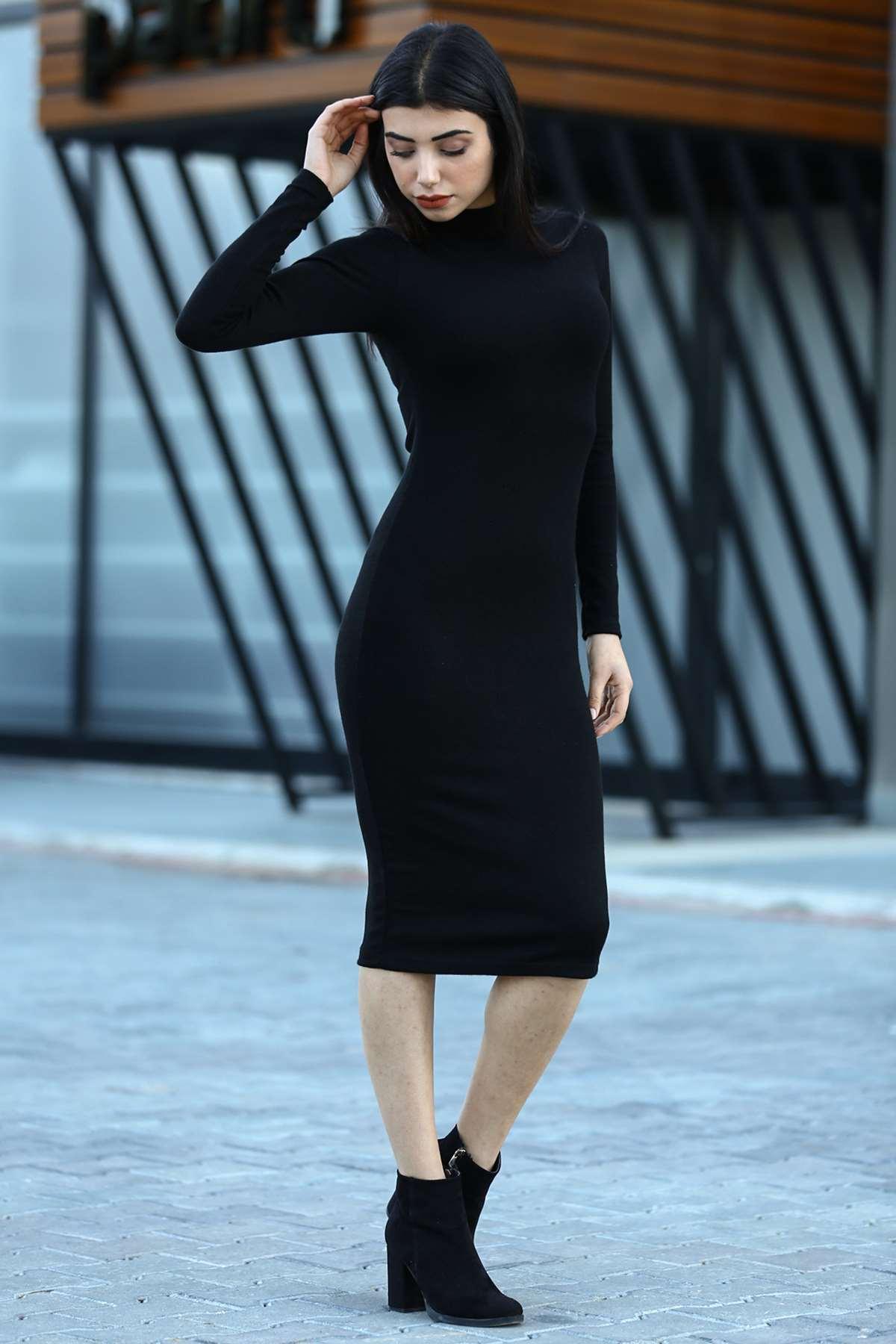 0264703_triko-siyah-elbise