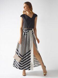 Modern kesim yırtmaçlı elbiseler 2020