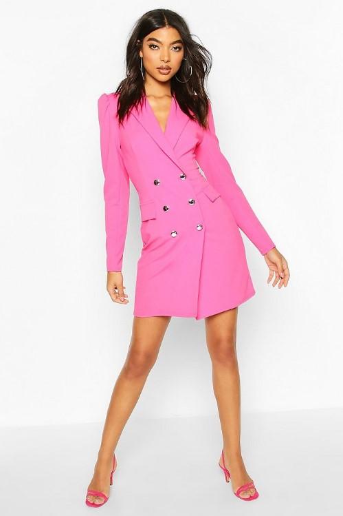 Renkli blazer elbise 2020