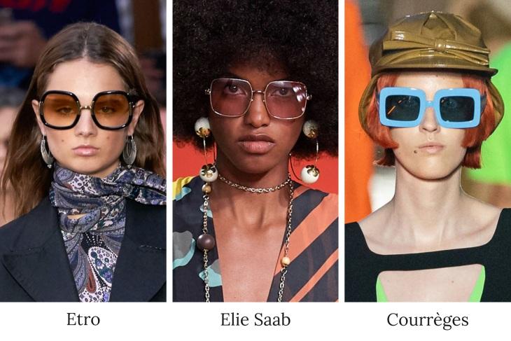 Yaz Trendi Büyük Kare Gözlükler