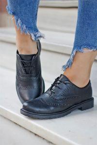 kadın oxford ayakkabı modelleri